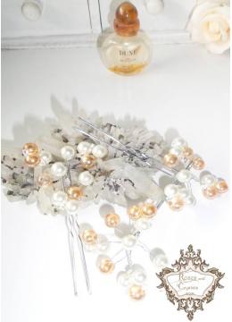 Дизайнерски аксесоари за коса- фуркети Gold Glass