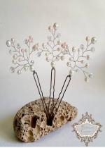 Фуркети- аксесоар за коса в бяло и розово Rose Beauty
