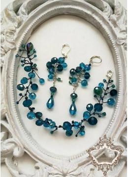 Комплект гривна и обици за бал и сватба - Sea Charm
