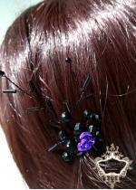 Уникален фуркет - украса за коса Purple Rose