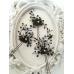 Кристални фуркети за официална прическа в черно и златно Black Orchid - комплект 3 броя