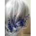 Комплект фуркети за официална прическа с кристали Сваровски в кралско синьо Blue Delphinium by  Rosie