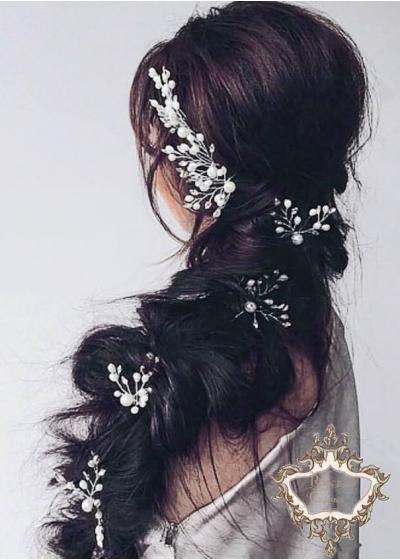 Луксозен комплект фуркети- украси за сватбена прическа Forces of Nature 7 броя