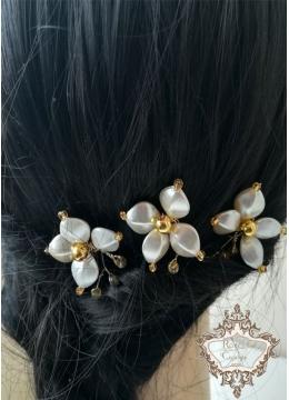 Дизайнерски булчински фуркети за коса Gardenia Gold by Rosie