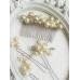 Дизайнерски фуркети за украса на официална прическа с перли цвят слонова кост Stylish in Ivory by Rosie