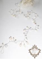 Дълга украса за сватбена прическа Pure Pearls