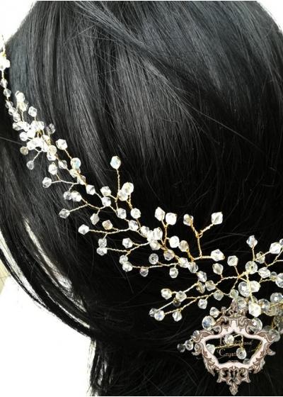 Булчинска украса за коса Winter Sun -30 см