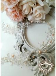Дълга кристална украса за сватбена прическа Golden Glance by Rosie