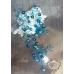 Кристална украса за коса Dark Turquoise Branch
