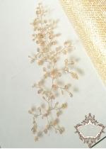 Кристална украса за булчинска прическа и бал Gold dust