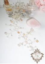 Дизайнерска украса за коса в златисто и розово серия Bel Epoque