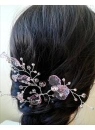 Дизайнерска украса за официална прическа с кристали Сваровски от серията Japanese Garden by Rosie