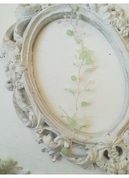Украса за коса за сватба бал и други официални събития в нежно резеда от серията Magic Begonia by Rosie