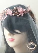 Комплект Булчински воал и дизайнерска диадема Magnolia Gold Rose by Rosie
