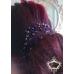 Украса за коса с кристали Сваровски в тъмно лилаво Forget me not by Rosie