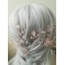 Украса за коса с кристали Сваровски в розово Rose Magic Garden by Rosie