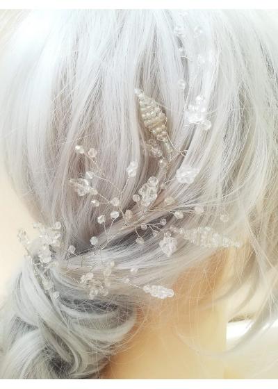 Сватбена украса за коса с мъниста и кристали Frozen Branch by Rosie