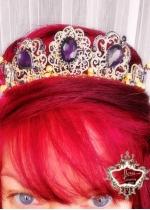 Уникална дизайнерска корона златно и лилаво Hermitage Gold Amethyst