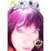 Кристална тиара за коса в златно и тъмно синьо Hermitage Gold Sapphire