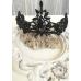 Дизайнерска тиара с черни кристали Black Rose Queen by Rosie