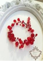 Уникална дизайнерска гривна с червени кристали Swarovski Absolute Queen of Fire