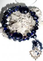 Уникална гривна от Кристали Сваровски Blue Night by Rosie