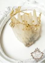 Дизайнерска гривна в златно за бал и сватба от серия Golden Age by Rosie