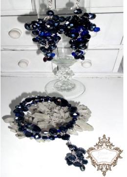 Дизайнерски кристални бижута за бал и парти Blue Night