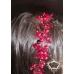 Официална диадема- украса за коса с перли и кристали в черно и червено Carmen