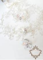Комплект аксесоари за сватба и бал- диадема, гривна и пръстен с кристални пеперуди Crystal Butterfly Gold