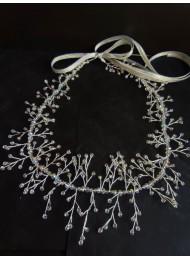 Кристална дизайнерска диадема- украса за коса Silver Sparks