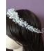 Кристална диадема за булка с бели перли и кристали Сваровски White Crystal Magic