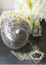 Комплект официална диадема гривна и обици с жълти кристали Summer Sun by Rosie