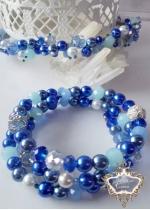 Комплект Кристална диадема и гривна Tender in Blue