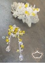 Кристална гривна и дълги обици Handmade by Rosie колекция Summer Sun