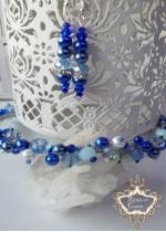 Комплект Кристална диадема и обици Tender in Blue