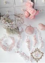 Комплект Кристална диадема и бижута за бал и сватба модел Rose Kiss by Rosie