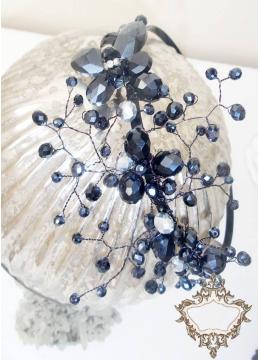 Елегантна дизайнерска диадема за коса с кристали Сваровски Butterfly Dreams de Lux