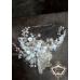 Дизайнерска диадема с лунен камък, опал и кристали Сваровски Moon Rose