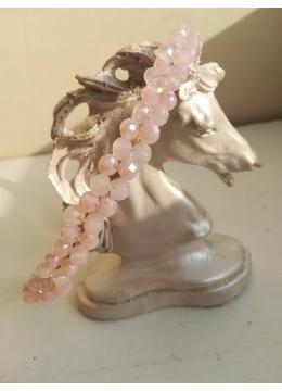 Нежна диадема с кристали Сваровски в нежно розово с ефект опал серия Mademoiselle модел Anna by Rosie