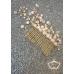 Гребен- украса за коса с кристали в цвят пудра и праскова Garden Blush by Rosie