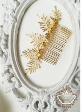 Дизайнерски Гребен - Украса за коса в златно Golden Age by Rosie