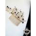 Дизайнерски гребен-украса за коса с кристали златно и черно Belle Epoque -Black