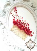 Абитуриентска украса за коса в червено и златно - Absolute Queen of Fire