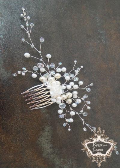 Кристален Гребен - украса за коса Snow White Мини