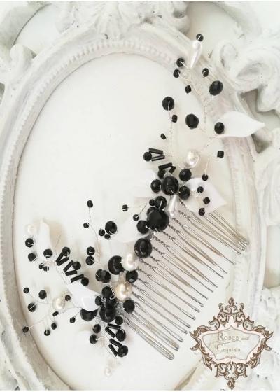 Гребенче- аксесоар за коса Abstract Flowers by Rosie