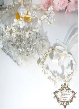 Комплект дизайнерска диадема за коса и гривна Gold Infinity