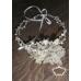 Сватбена дизайнерска диадема сребро, перли и кристали модел Silver Infinity