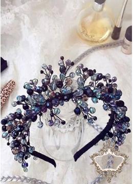 Кристална корона в синьо- лилавата гама Queen of Chaos