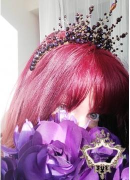 Amethyst Rose by Rosie -Дизайнерска корона с Кристали Сваровски в лилаво и златно